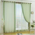 Cream And Lime Green Curtains