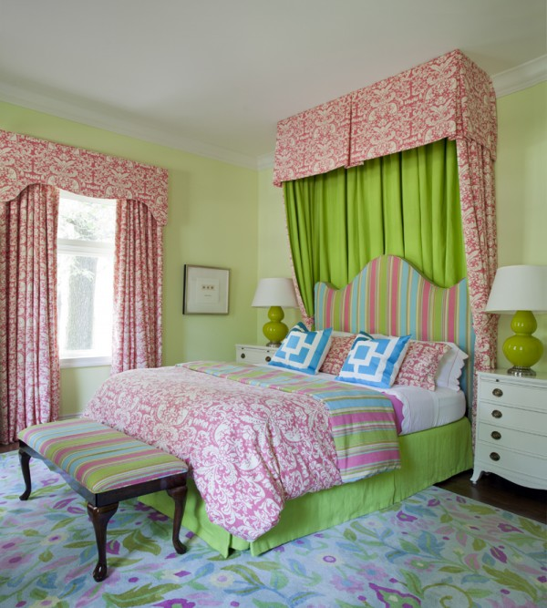 Lime Green And Pink Curtains