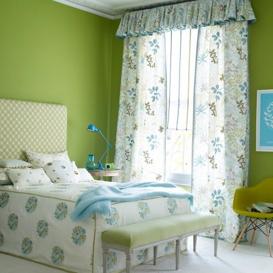 Lime Green And White Curtains