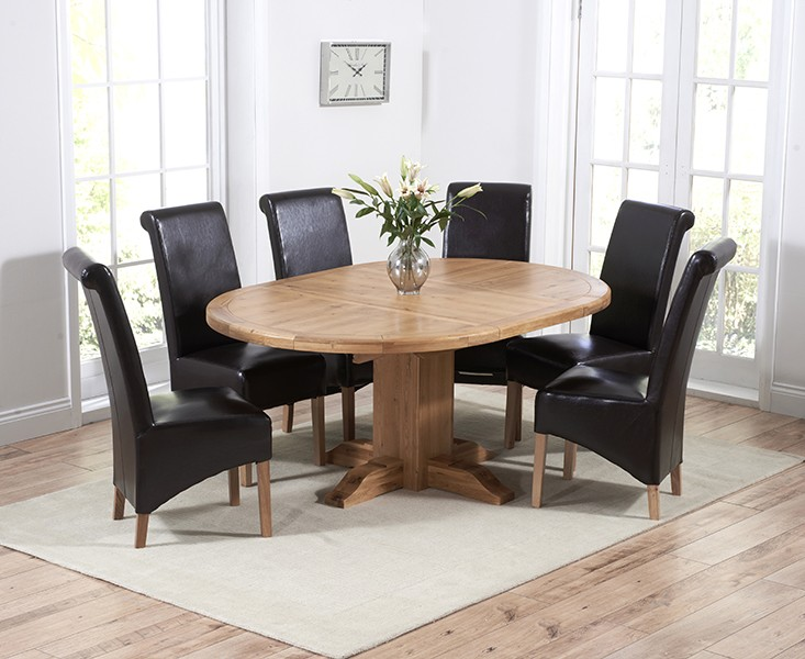 Round Extending Pedestal Dining Table
