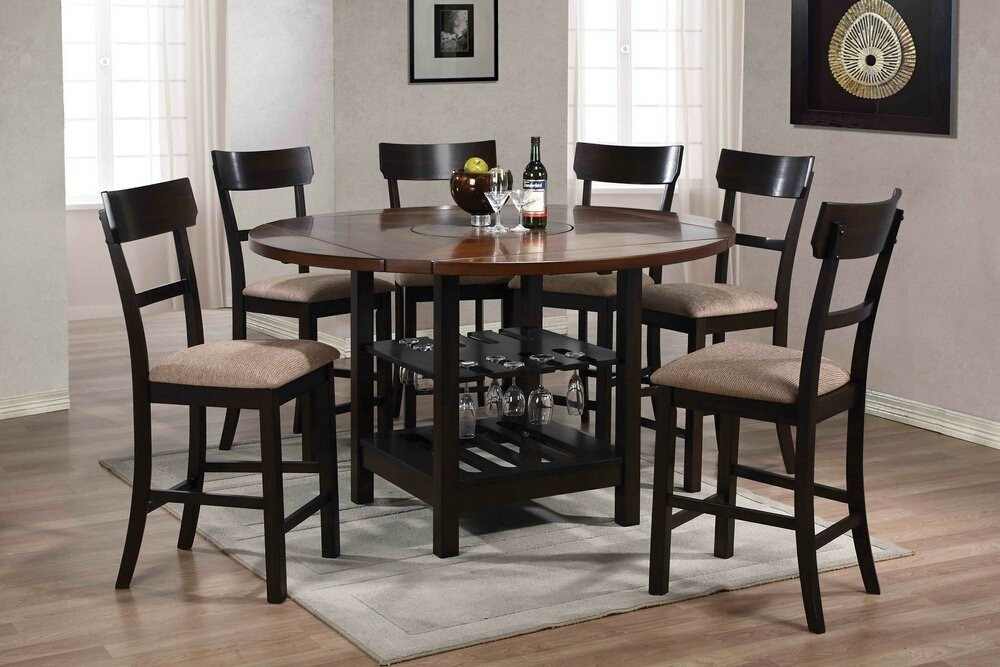 Round Pedestal Dining Table With Extension