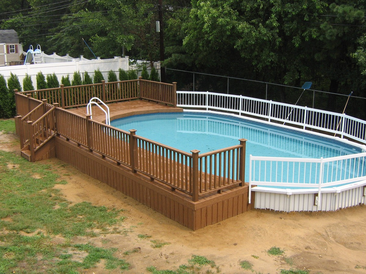 Above Ground Swimming Pool Decks