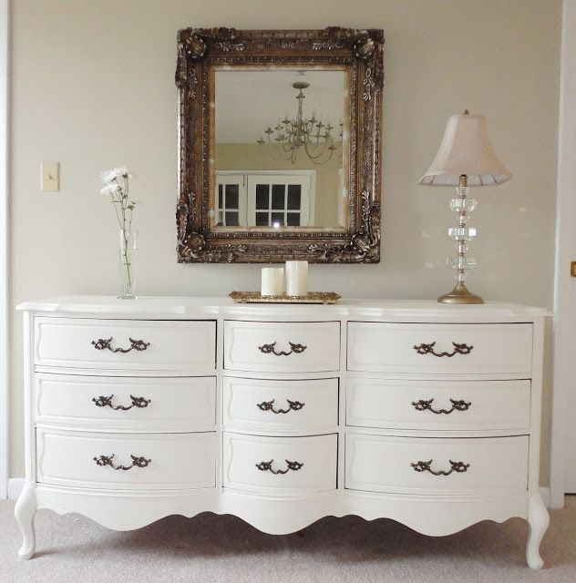 French Provincial Dresser Painted
