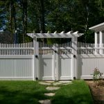 White Vinyl Picket Fence Panel