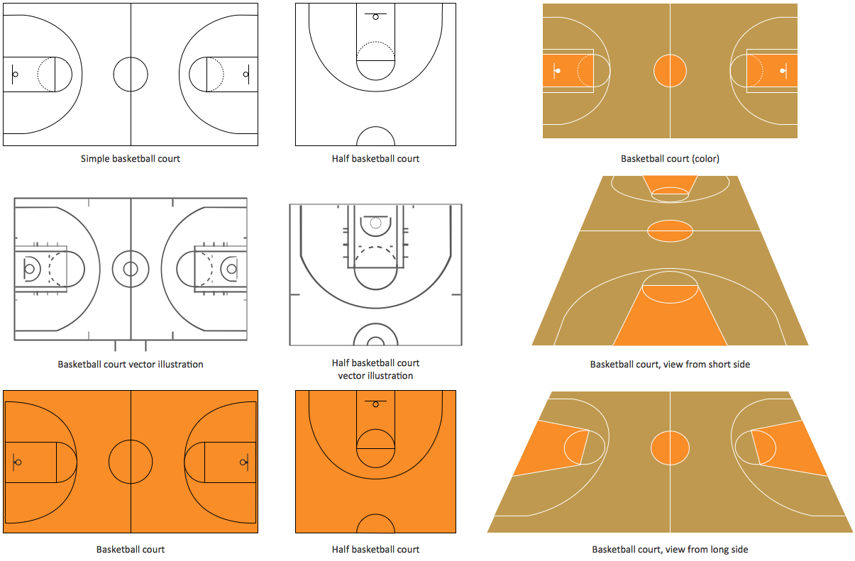 Basketball Court Layout Template