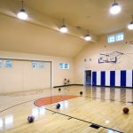 basketball court lighting layout
