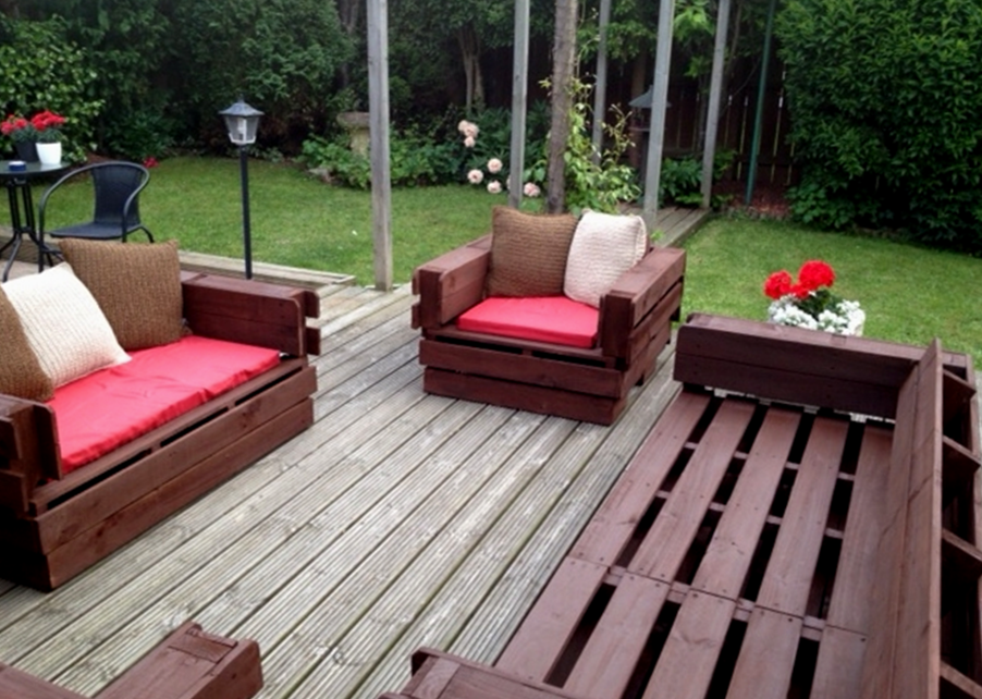 How To Make Pallet Patio Furniture A Creative Mom