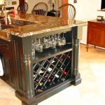 Black Kitchen Island With Wine Rack