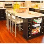 Kitchen Island Wine Rack Storage