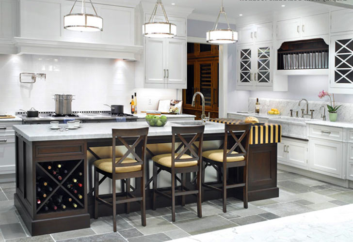 Kitchen Island With Seating And Wine Rack