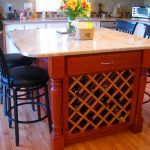 Kitchen Island With Wine Rack On End