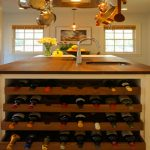 Kitchen Island With Wine Racks