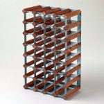 metal and wood wine rack storage
