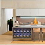 Modern Kitchen Island With Wine Rack