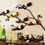 Wall Mount Wine Rack Vines