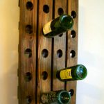 wall mount wine rack wood