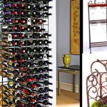 wine rack furniture metal