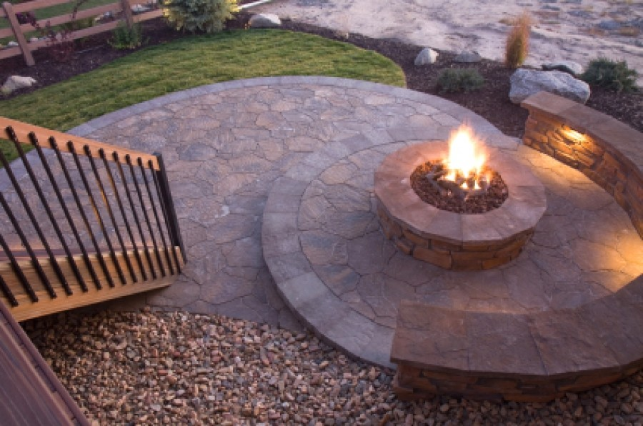 backyard fire pit ideas landscaping from user submitted