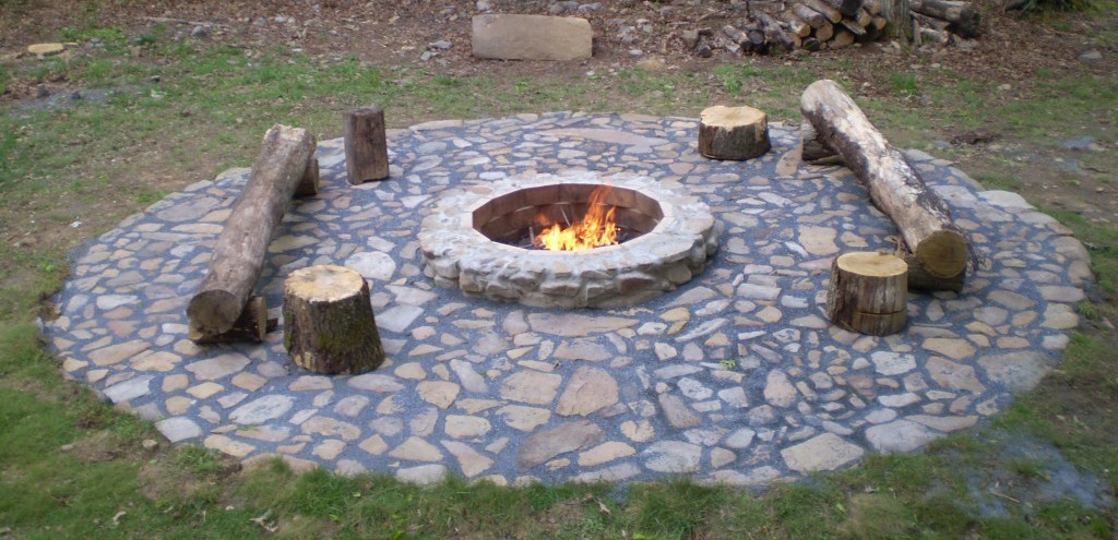 backyard fire pit from user submitted