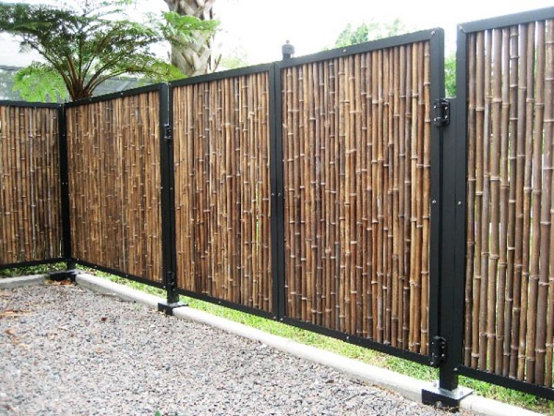 bamboo fence ideas a creative mom