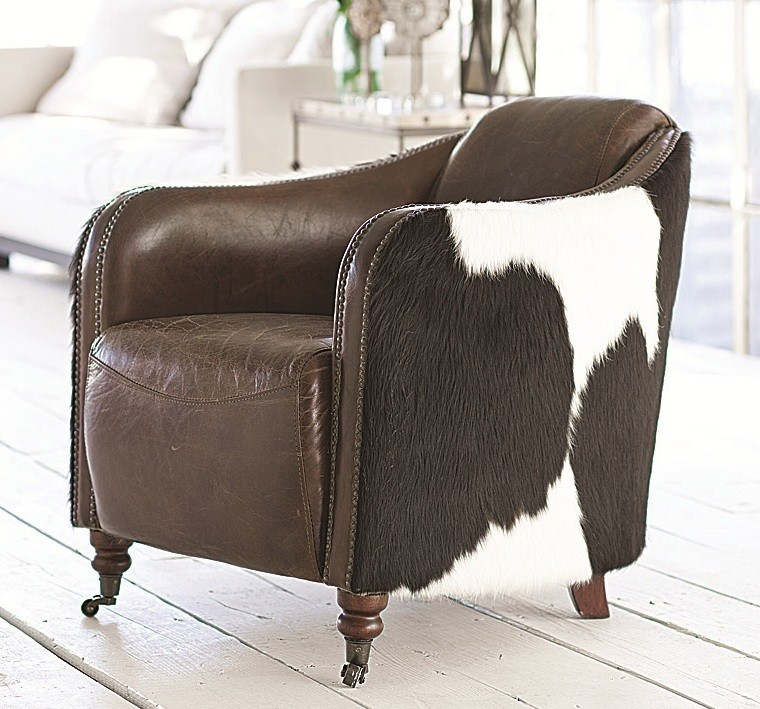 Rope Yourself A Cowhide Chair | A Creative Mom