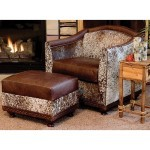 cowhide chair and ottoman