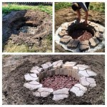 in ground fire pit construction