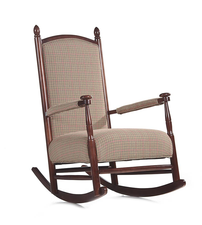 Kids upholstered rocking chair a creative mom
