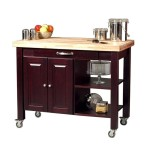 kitchen island cart with granite top