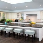 kitchen island with cooktop and seating