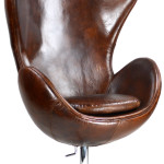 Leather Swivel Armchair