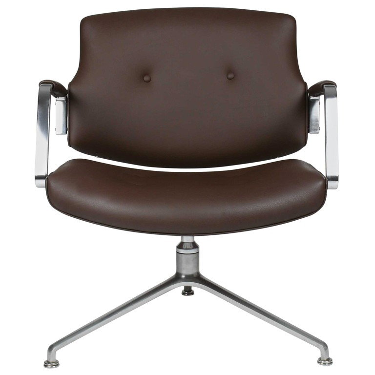 Leather Swivel Club Chairs