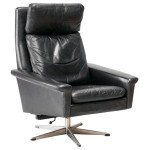 Leather Swivel Recliner