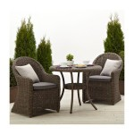 Wicker Bistro Set Outdoor
