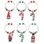 Christmas Wine Charms