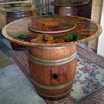 wine barrel table base