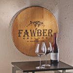 wine barrel wall decor