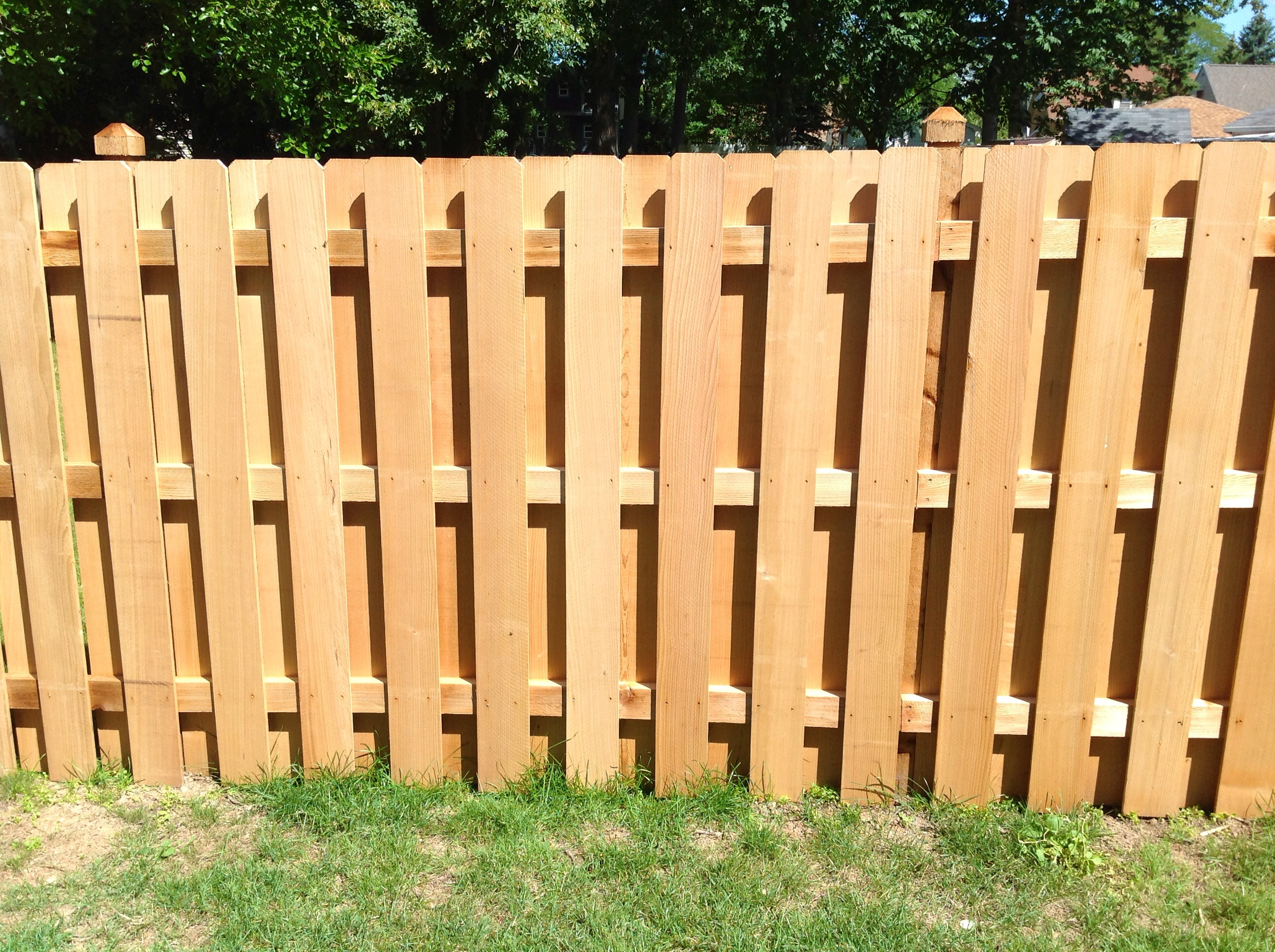 Wood Shadow Box Fence