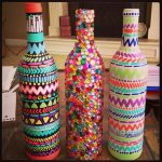 painted wine decoration ideas