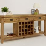 console wine rack table