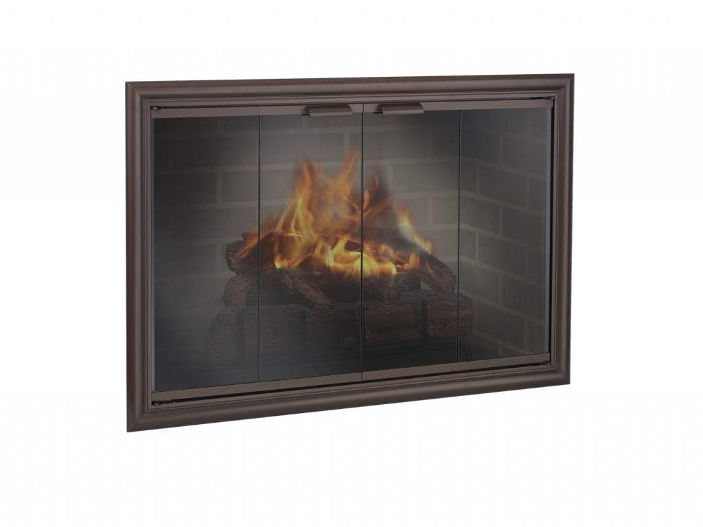 Contemporary fireplace doors