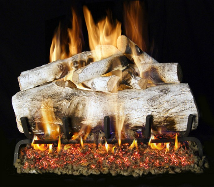 Fireplace logs for gas fireplace