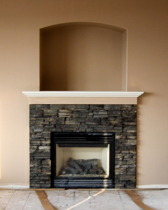 Fireplace rocks gas
