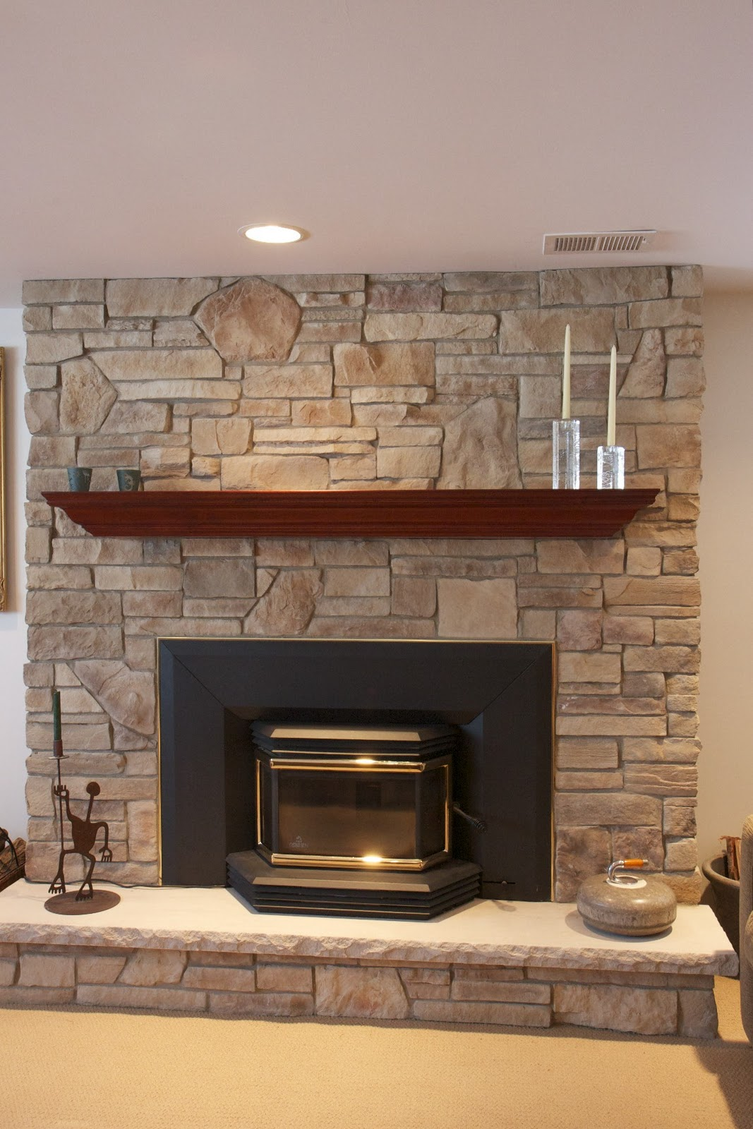 Fireplace rocks stones