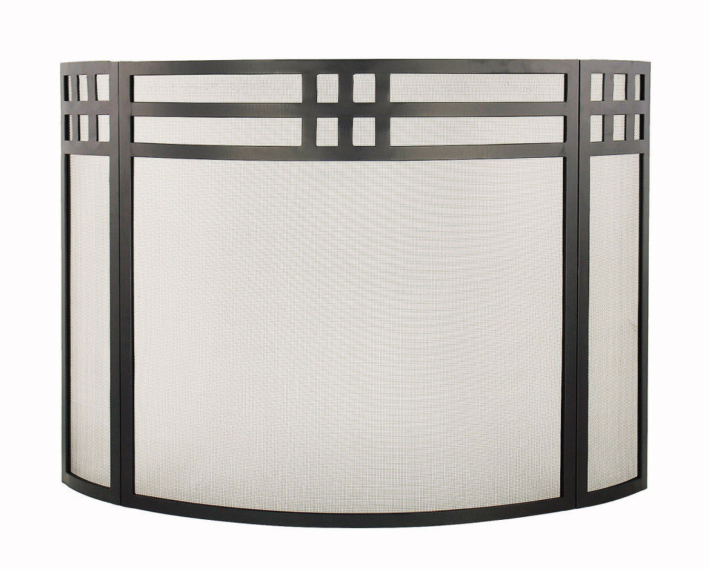 Fireplace screens with glass doors