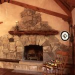 Fireplace With Rocks