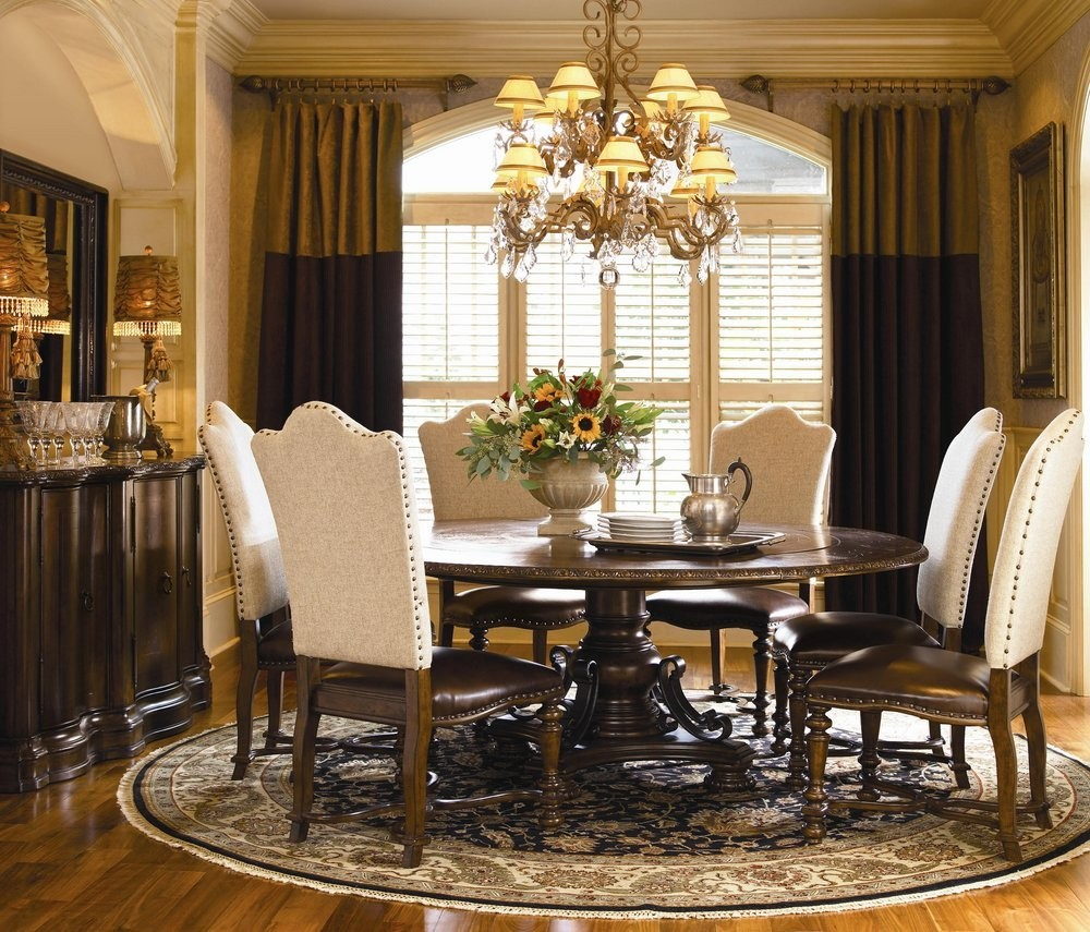 Formal round dining room sets
