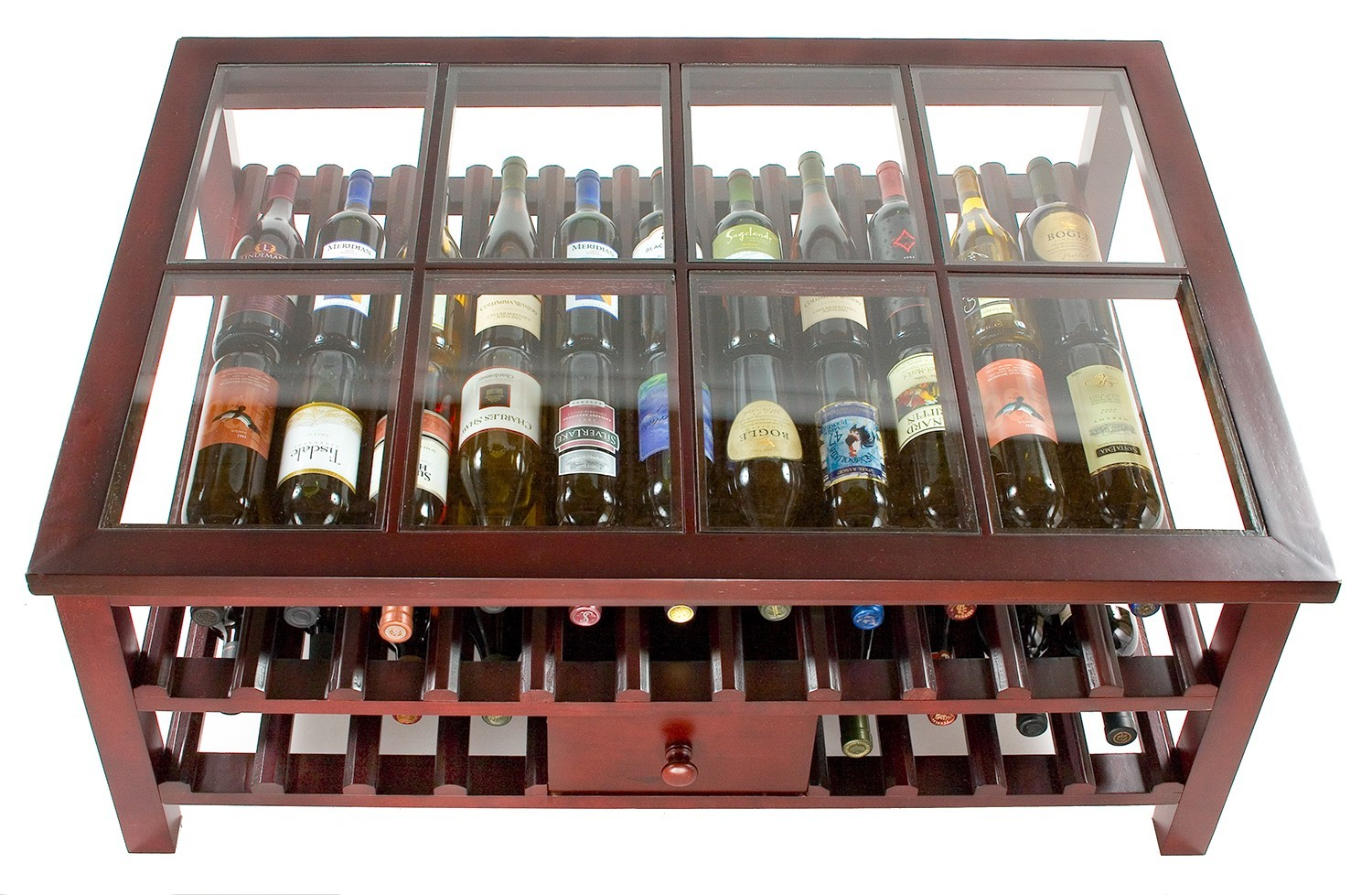 Glass Top Wine Rack Table A Creative Mom