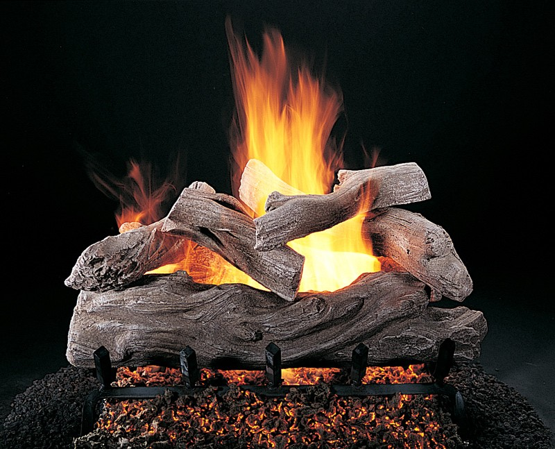 Propane fireplace logs