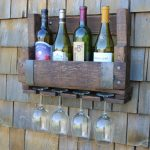 Rustic Wine Glass Rack
